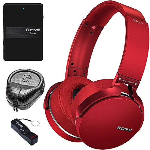 Sony XB950B1 Extra Bass Wireless Headphones with App Control, Red (2017 model)...