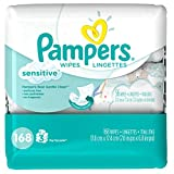 Pampers Sensitive Baby Wipes - Unscented - 168 ct (3 - 56ct Travel Pack)