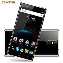 Telefonino Offerte, OUKITEL K3 4G Smartphone Libero Batteria 6000mAh, Quattro Fotocamere (2MP + 16MP Frontale, 2MP + 16MP Posteriore), 5,5 pollici Sharp Display Android 7.0, MTK6750T Octa Core 1.5GHz 4GB RAM 64GB ROM, Impronte Digitali GPS Dual SIM OTG