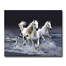 Black And White Wall Art Painting Mystic Horses Running Across Sea Pictures Prints On Canvas Animal The Picture Decor Oil For Home Modern Decoration Print
