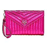 Victoria's Secret V-Quilt Metallic Crackle Tech Clutch/Wallet