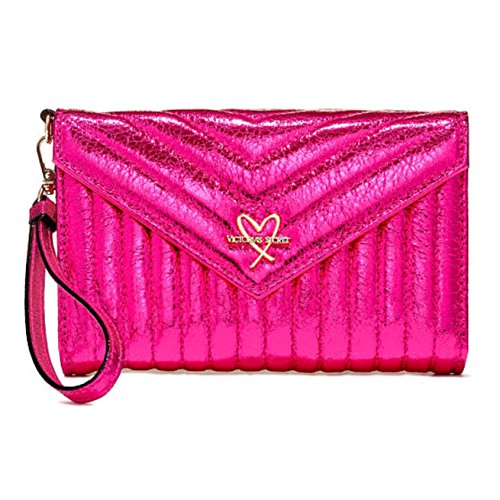 Victoria's Secret V-Quilt Metallic Crackle Tech Clutch/Wallet
