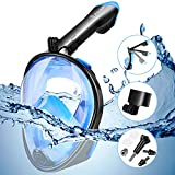 FYLINA Snorkel Mask,Foldable 180° GoPro Compatible Snorkeling and Diving Mask-Panoramic Full Face Design.See
