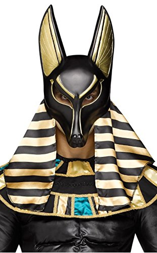 Fun World Men's Anubis Mask Adult, Multi, Size