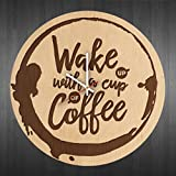 Wake up coffee design wood wall clock - Modern wood wall clock - Gift Ideas For Men, Women, Boys, Girls - Handmade wall art decor