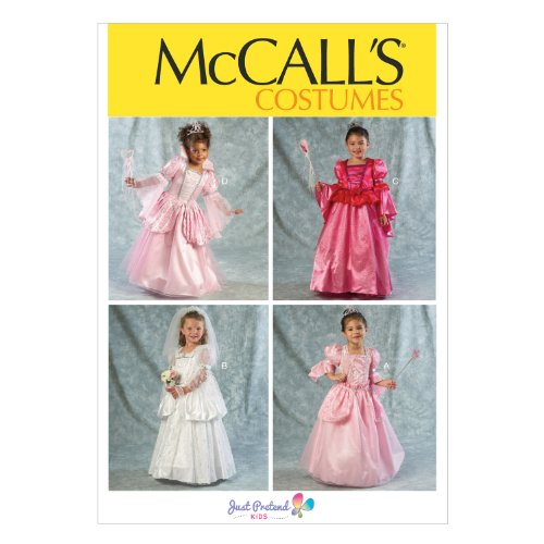 McCall Pattern Company M6897 Children's/Girls' Costumes Sewing Template, Size CDD (M Template For M&m Costume)