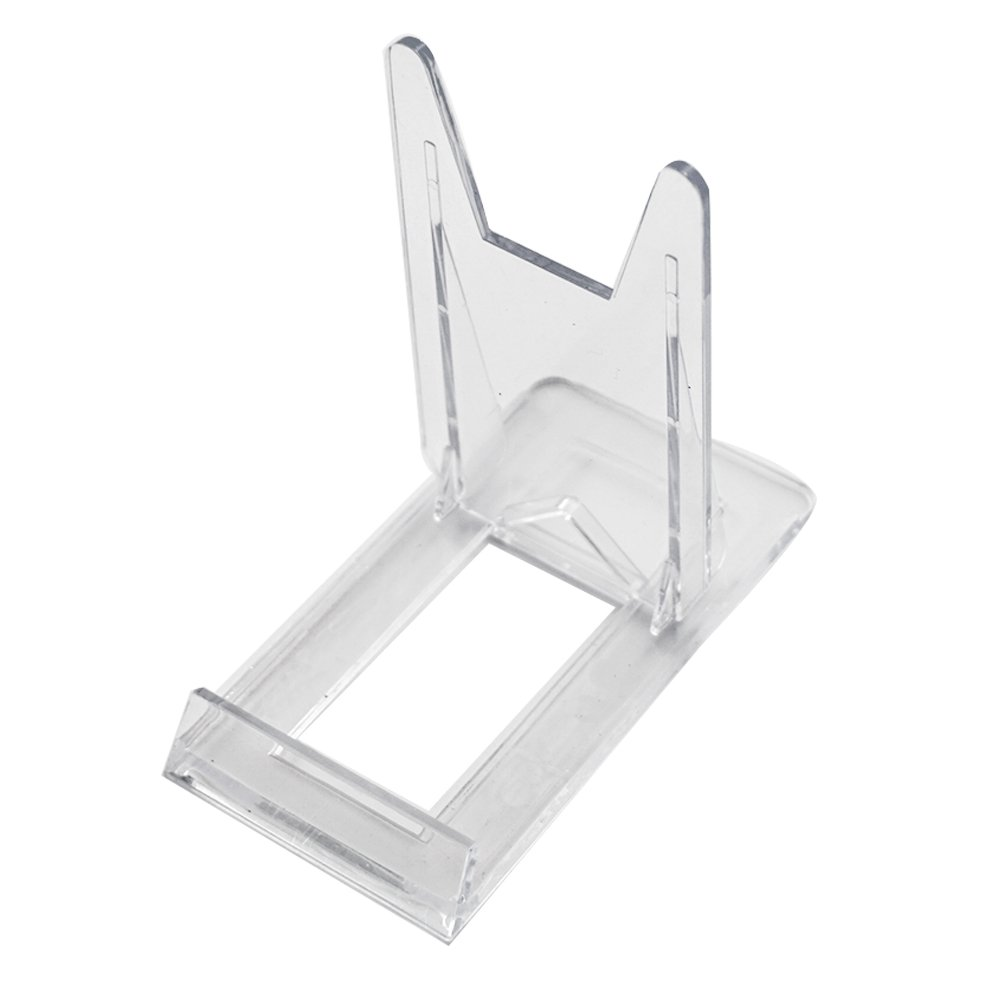 Two Part Adjustable Clear Acrylic Plastic Display Stand Easel (set of 6)