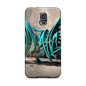 High Quality Richardcustom2008 3d Graffiti Background Iii Skin Cases Covers Specially Designed For Galaxy - S5