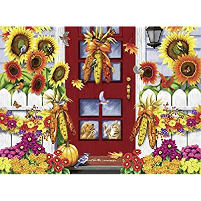 Ravensburger Autumn Birds 14968 500 Piece Large Pieces Jigsaw Puzzle for Adults, Every Piece is Unique, Softclick Technology Means Pieces Fit Together Perfectly, 27