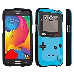 DuroCase ? Samsung Galaxy Avant G386T Hard Case Black - (Gameboy Blue)