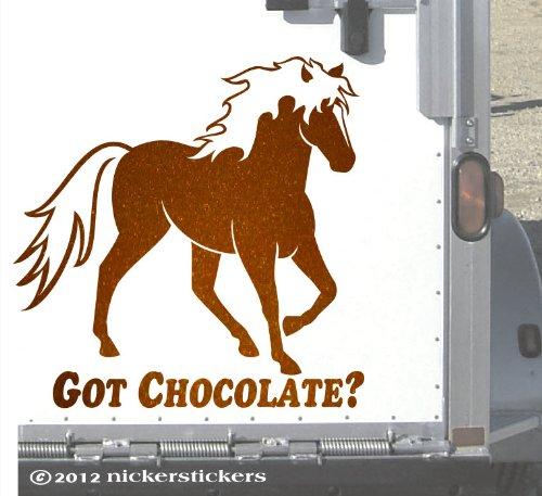 Got Chocolate? Rocky Mountain Horse Trailer Metallic Copper Decal - Large 15