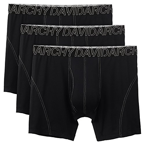 9bf352ec2d David Archy 3 Pack Men s Ultra Fast Dry Performance Boxer Briefs (L