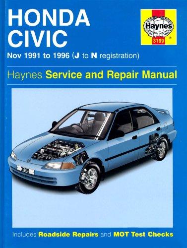 Honda Civic (91-96) Service and Repair Manual (Haynes Service and Repair Manuals)