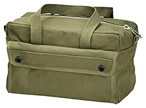 Rothco Mechanics Tool Bag W/ Brass Zipper, Olive Drab