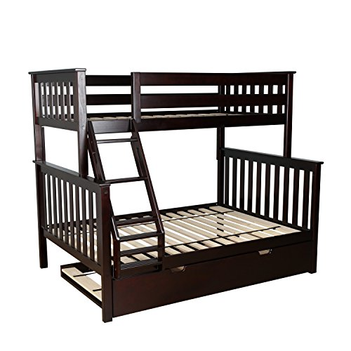 espresso bunk beds for kids - 5
