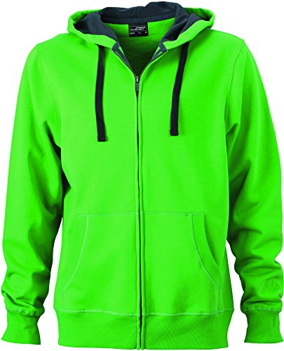 Bionic® Men's Hooded Felpa Jacket finish carbon In Giacca Con Green YXtwfcq