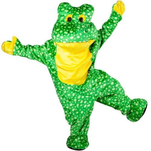 Deluxe Frog Mascot Costumes (Deluxe Plush Frog Mascot Adult Costume Adult (One Size))