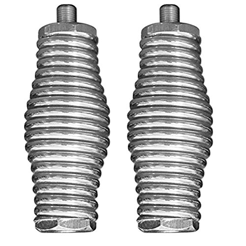 (LOT OF 2 WORKMAN KA-52SS STAINLESS STEEL BARREL SPRING ANTENNA MOUNTS FOR 102