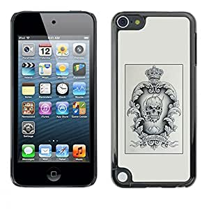 Planetar® ( Poster Vignette Skull Crown King ) Apple iPod Touch 5 Fundas Cover Cubre Hard Case Cover
