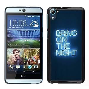 """Pulsar Snap-on Series Teléfono Carcasa Funda Case Caso para HTC Desire D826 , Partido luz de neón Cita"""""""