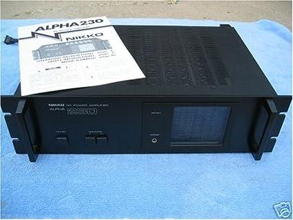 Amazon.com: Nikko 230 Amplificador de Potencia Estéreo ...
