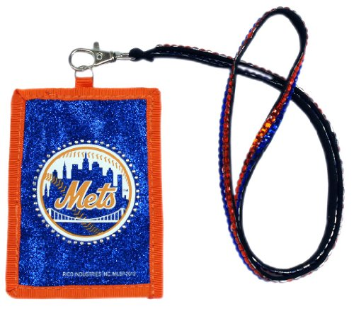 New York Mets Beaded Lanyard Wallet (Lanyard New York Mets)