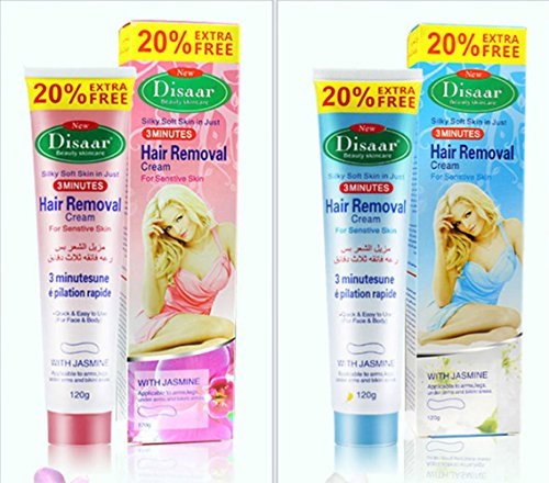 DISAAR Hair Removal Inhibitor Depilatory Cream Best Permanent Speedy Stop 120g (Nourishing Hair Remover)