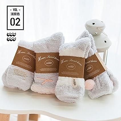 La toalla chica calcetines gruesos calcetines de invierno sueño mujer coral Fleece Navidad home alfombras de