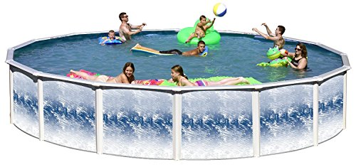 Dia Round Pool - Swim N Play Yorkshire 24 Ft Dia x 52 in HIgh Above Ground Swimming Pool