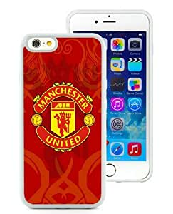 Manchester United 6 White TPU Case Cover for iPhone 6 (4.7 inch) Grace and Cool Design