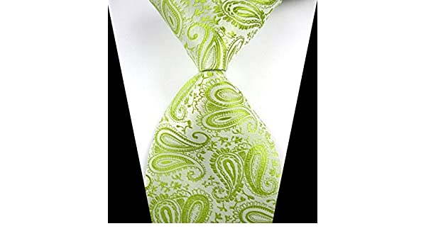 Ext collectino corbata de seda 100%, New Classic Paisley verde ...