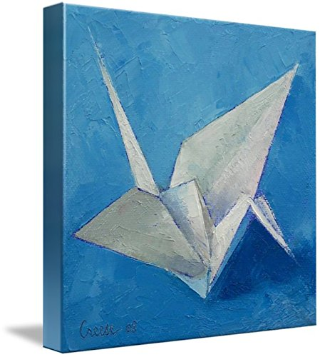 Wall Art Print entitled Origami Crane by Michael Creese | 36 x 36 (Crane Grua)