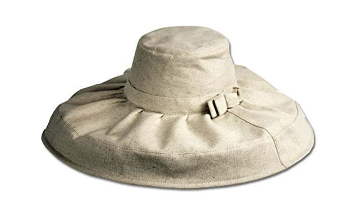 1950s Women's Hat Styles & History Sakkas Natural Cotton Floppy Hat $15.99 AT vintagedancer.com