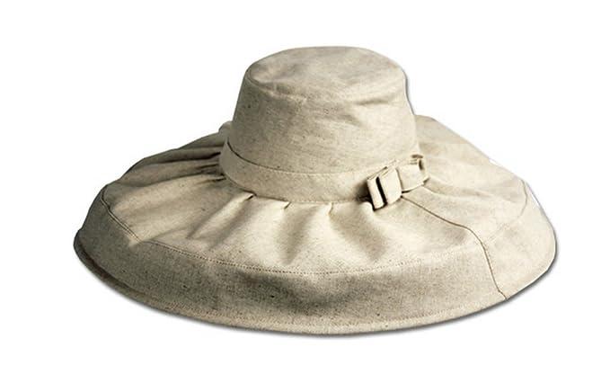 1950s Hats: Pillbox, Fascinator, Wedding, Sun Hats Sakkas Natural Cotton Floppy Hat $15.99 AT vintagedancer.com