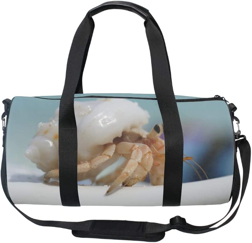 Gym Bag with Shoe Compartment Men Duffel Bag Medium Crab Shell