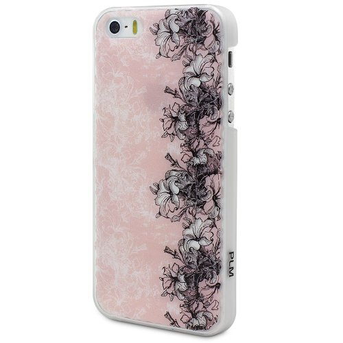 "PLM ""avanos Vintage Motif verre Floral – Apple iPhone 5s, iPhone 5 housse coque case Back Cover Opale/Blanc (Lait)"