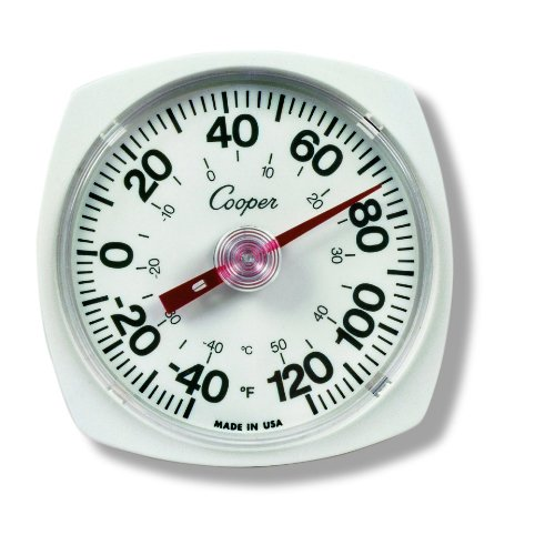 Cooper-Atkins 250-0-1 Bi-Metal Wall/Storage Thermometer, -40/120°F Temperature (Storage Thermometer)
