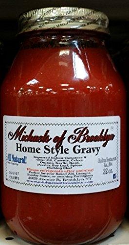 Michaels Of Brooklyn, Sauce Tomato Homestyle Gravy, 32 Ounce (Pasta Sauce Tomato Garlic)