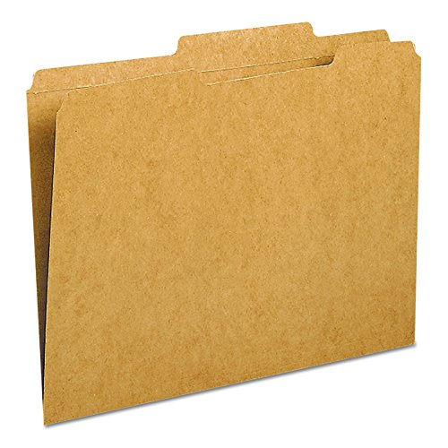 Smead File Folder, Reinforced 2/5-Cut Tab Right of Center, Guide Height, Letter Size, Kraft, 100 Per Box (10776)