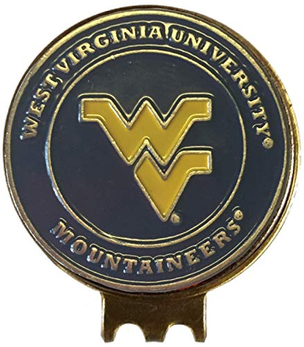 WEST Virginia Mountaineers Golf Ball Marker ON HAT Clip Great Gift IDEA WVU