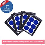 Safe-O-Kid Pack of 24(+6 Free) BABY BLUE Color Mosquito Repellent Patches