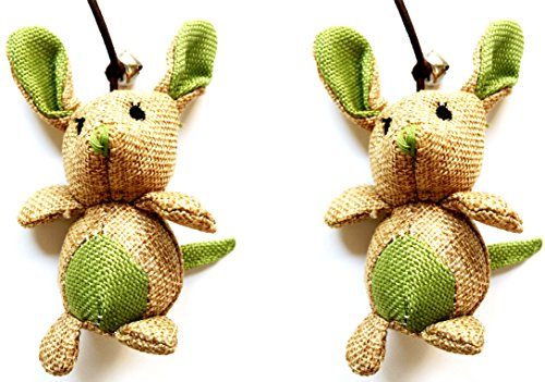 Krinkle Sticks - AIRNIX 2pc Mouse Dancer; Catnip Stuffed Mouse Teaser Wand Elastic Cord Bell