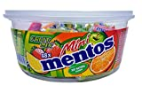 Mini Mentos Fruit Mix Candy Rolls, 48-Piece Tub, 17.7-Ounce