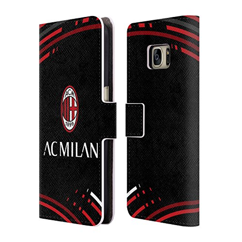 Head Case Designs Ufficiale AC Milan 2018/19 Modelli Cresta Cover in Pelle a Portafoglio Compatibile con Samsung Telefoni 1