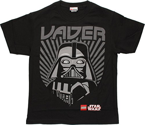 Star Wars Darth Vader Rules T-shirt Kids Lego Youth Black Tee (Medium 10-12)