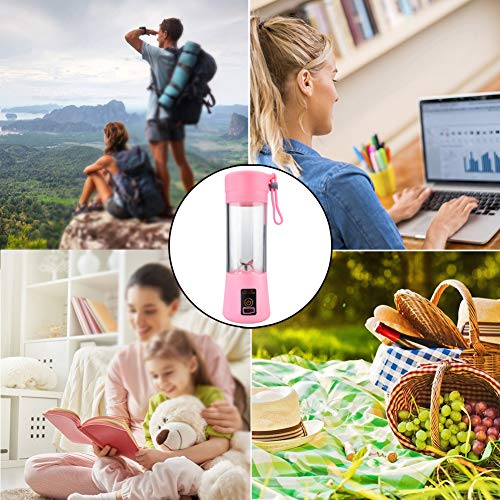 JIAYOUNG Portable Juice Cup - 2 In 1 380ml Usb Electric Fruit Vegetable Juicer Smoothie Maker Blender Rechargeable