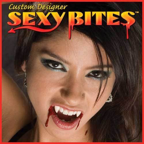 [SEXY BITES CUSTOM VAMPIRE FANGS TEETH womens size SMALL Twilight True Blood NEW] (Custom Inflatable Costumes)