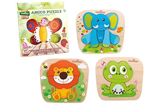 (Globo Toys Globo - 37701 22 x 19.8 x 1.8 cm, 1 Assorted Legnoland Wooden Animal Puzzle)