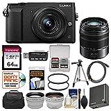 Panasonic Lumix DMC-GX85 4K Wi-Fi Digital Camera & 12-32mm (Black) with 45-150mm Lens...