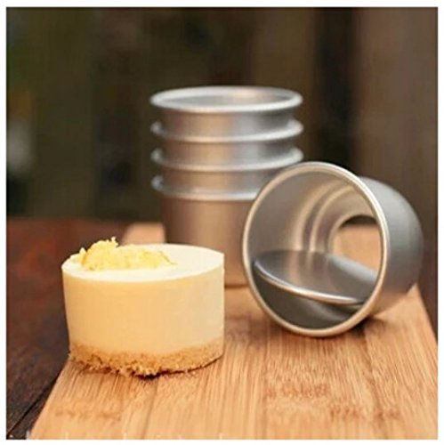 Astra shop Perfect Performance Aluminium Mini Round Chiffon Cake Pan, Set of 5 by Astra Gourmet